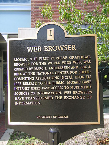 Mosaic Browser Plaque NCSA