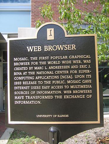 Mosaic Browser Plaque NCSA